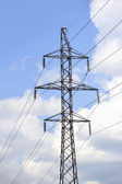 High-tension power line — Stock Photo