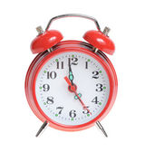 Red alarm clock isolated — Stock Photo