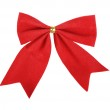 Beautiful red gift bow isolated on white background — Stock Photo