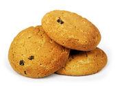 Oatmeal cookies isolated — Stock Photo