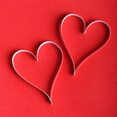 Valentine's paper hearts — Photo