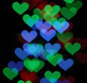 фото сердце форму боке — Стоковое фото