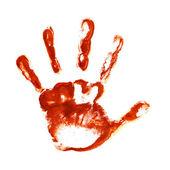 Spooky hand prints — Stock Photo