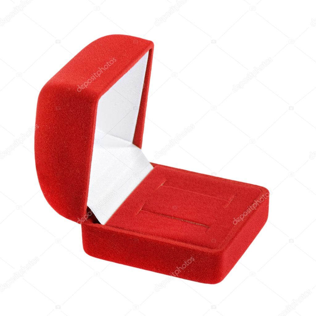 Empty jeweller box on white background  Stock Photo #10274438