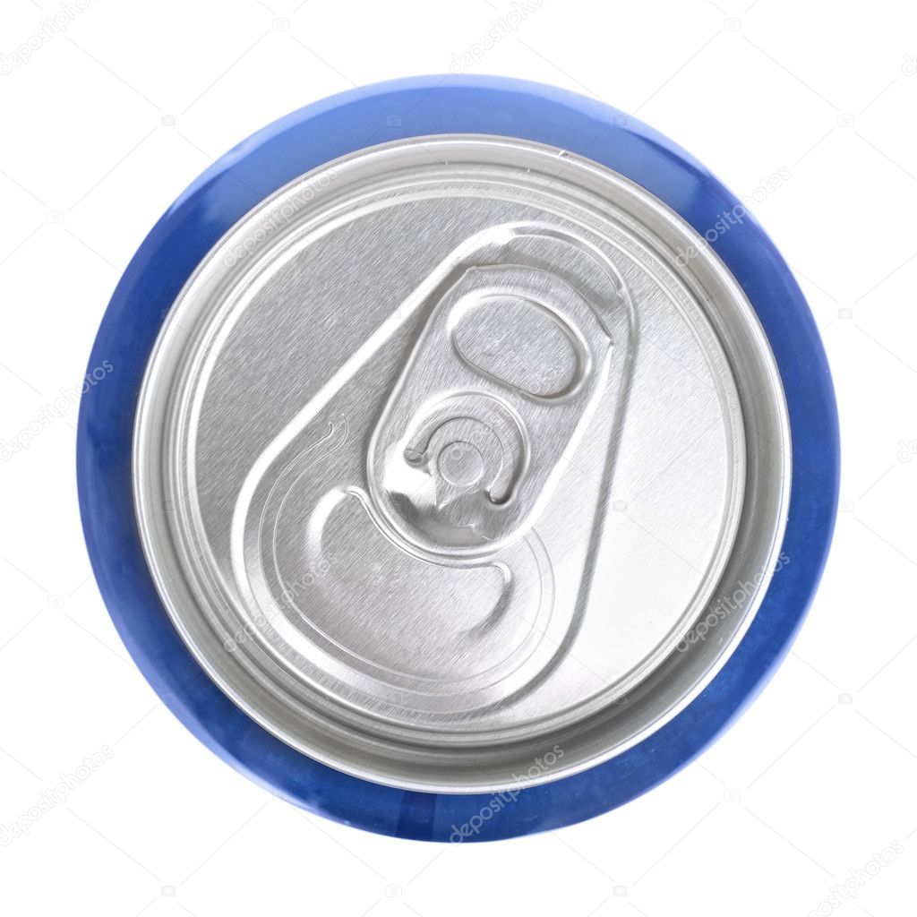 Top of drink can isolated — Stock Photo #10274620