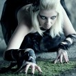 Gothic woman — Stock Photo