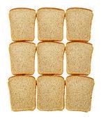 Tranches de pain isolé — Photo