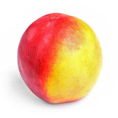Peach isolated on the white — Stock Photo