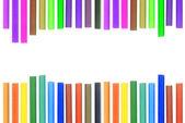Zestaw ołówków inny kolor na białym tle — Zdjęcie stockowe