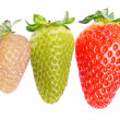 3 different strawberries — Stock Photo