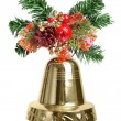 Christmas decoration with bell — Stock Photo
