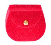 Red decorative box isolated — Stock Photo