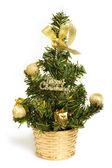 árbol de navidad con adornos — Foto de Stock