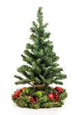 Christmas tree with balls — Stock Photo