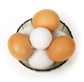 Eggs in dish — Stock Photo