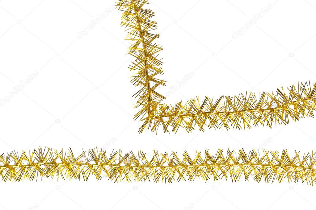 Tinsel isolated on a white background — Stock fotografie #10604503
