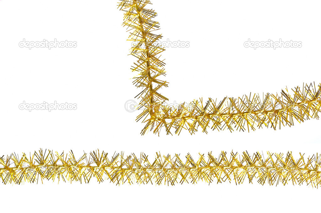 Tinsel isolated on a white background — Photo #10604503