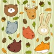 Royalty-Free Stock Vector Image: Forest animals