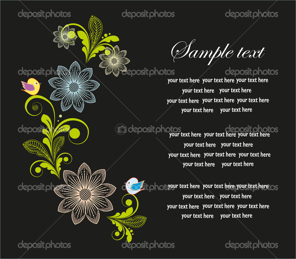 Pretty floral frame. vector illustration.  Stock Vector #10213133
