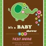 Nice post card with an elephant. vector illustration — Stock Vector