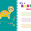 Cute baby shower design. vector illustration — Image vectorielle