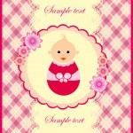 Baby girl announcement card. vector illustration — Stock Vector #10455013