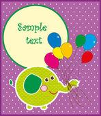Cute happy birthday card. vector illustration — Stock Vector