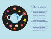 Cute tea time card. vector illustration — Stock Vector