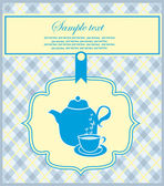 Vintage card with teapot. vector illustration — Stock Vector