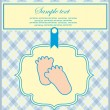 Baby boy announcement card. vector illustration — Stock Vector