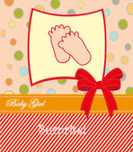 Baby girl announcement card. vector illustration — Stock Vector