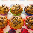 Chocolate chips muffins group — Stock Photo #10106435