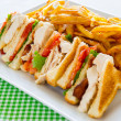 Club sandwich meal — Stock Photo #10524785