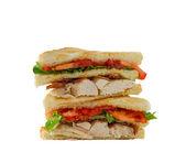 Isolated club sandwich — Stock Photo