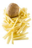 Raw cutted french frie — Stock Photo