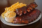 Pork ribs back meal — Stock Photo