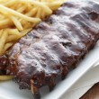 Stock Photo: Ribs meal