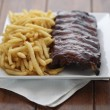 American ribs meal — Stock Photo