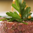 Loin beef tartar — Stock Photo