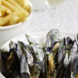 Royalty-Free Stock Photo: Mussel dinner