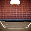 Empty basketball court - Stock Photo