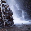 Rock water stone cascade — Stock Photo