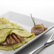 Simply omelet — Stock Photo