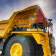 Stock Photo: Vertical large haul truck