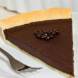 Chocolate tart pie — Stock Photo