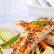 Healthy fish pangasius meal - Stock Photo