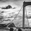 Motion bridge with clouds — Stock Photo
