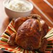 Roasted chicken color — Stock Photo