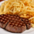Steak and french fry — Stock Photo