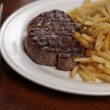 Steak frite grilled — Stock Photo